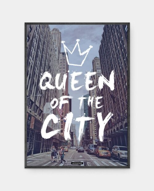 Queen city plakat i ramme