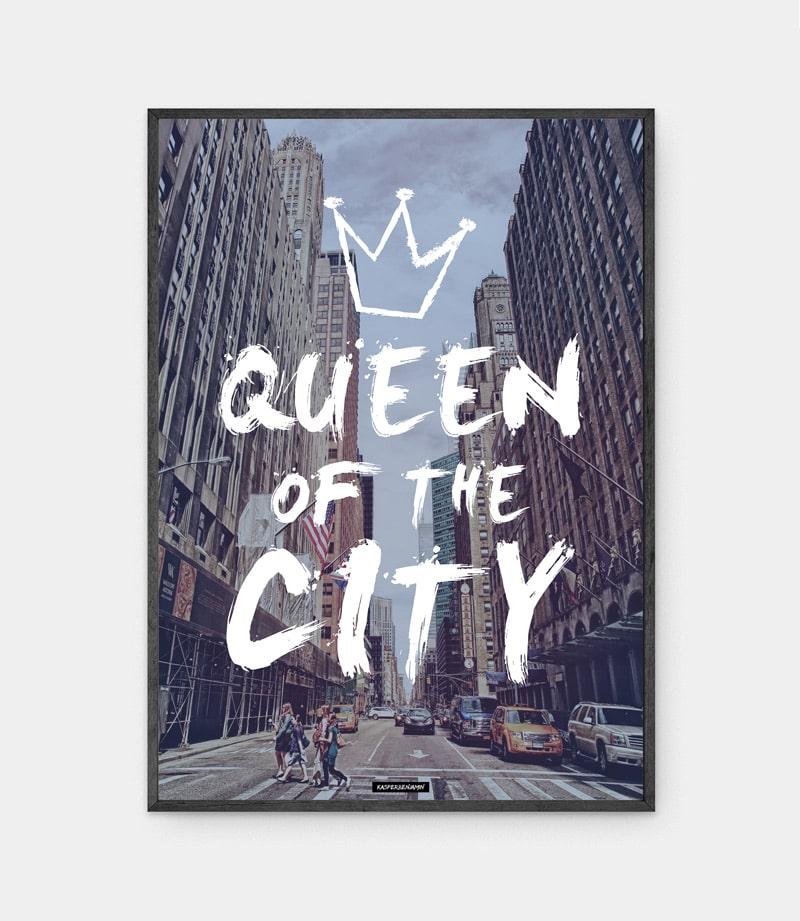 Queen city plakat i ramme