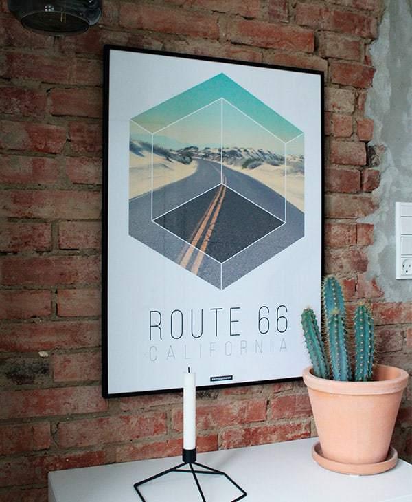 Route 66 plakat