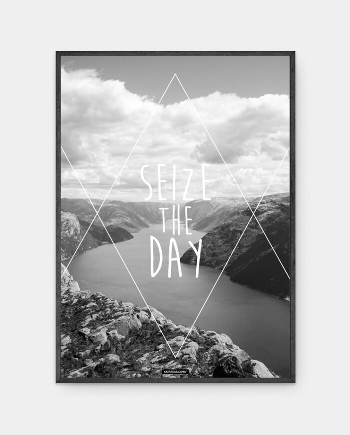 Seize the day plakat i sort ramme