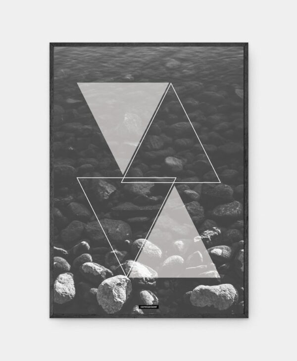Water Triangle plakat med ramme