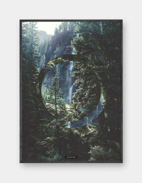 grafisk-natur-plakat-serenity