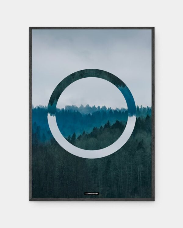 Inception plakat i sort ramme