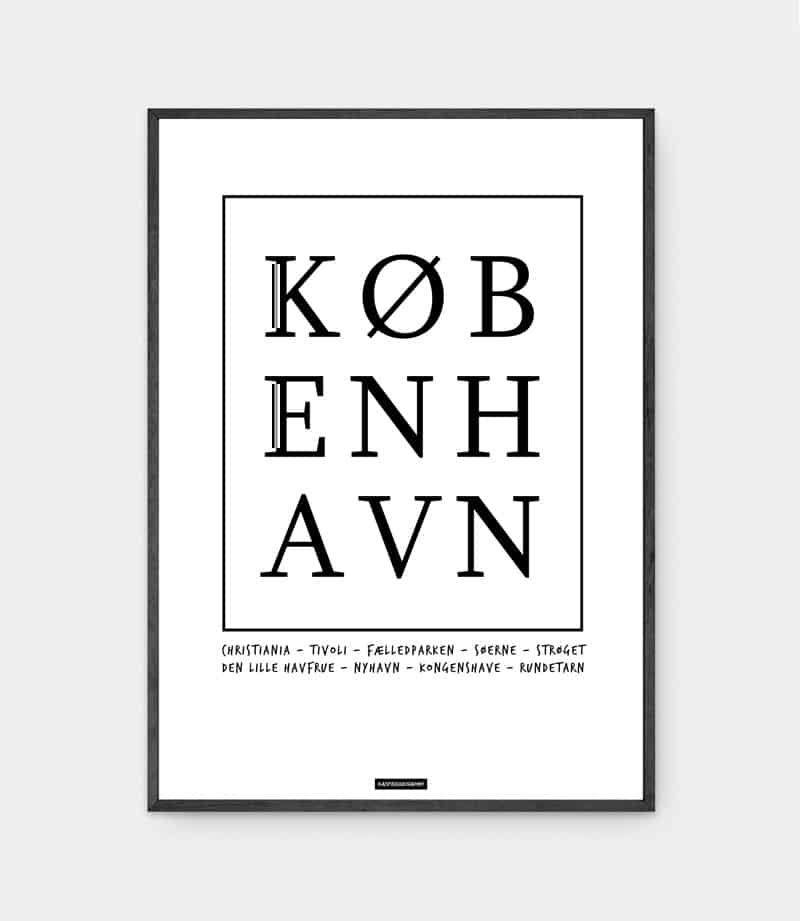 København plakat i ramme