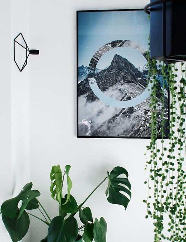 Bjerg motiv med natur - Sky High plakat