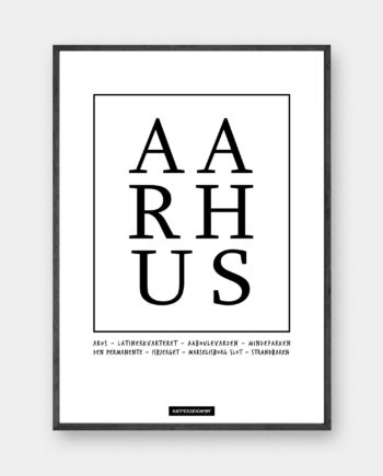 typografisk plakat Aarhus