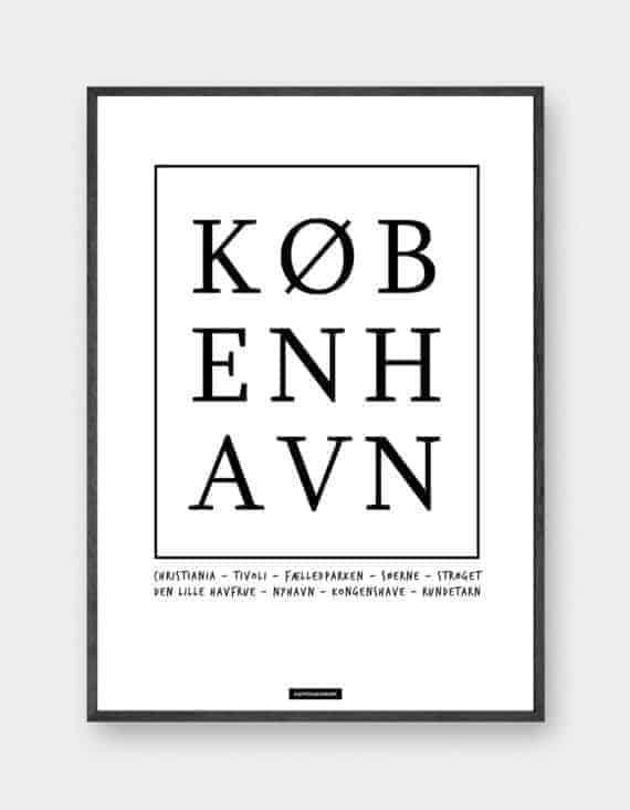 kobenhavn-sort-hvid-by-tekst-plakat
