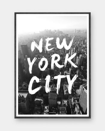 New York City - sort/hvid plakat