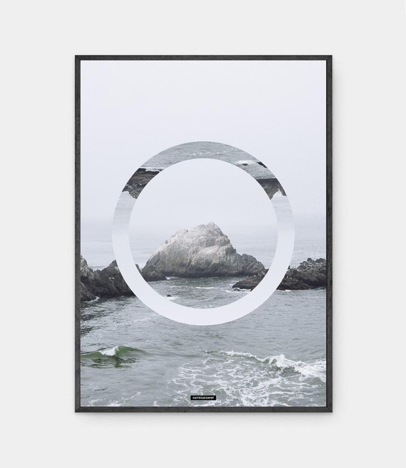 The Sea plakat i mørk ramme