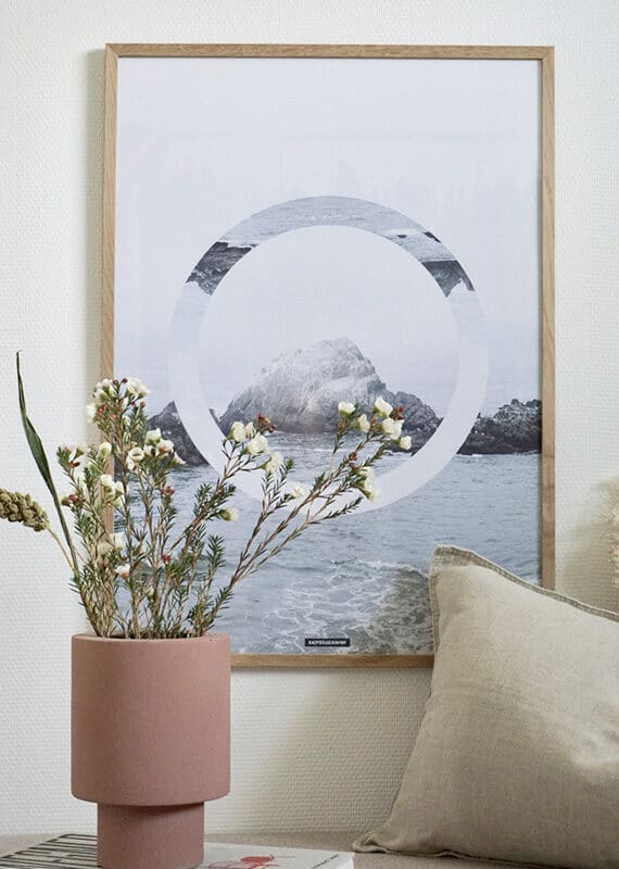 The Sea plakat i lys egetræ ramme