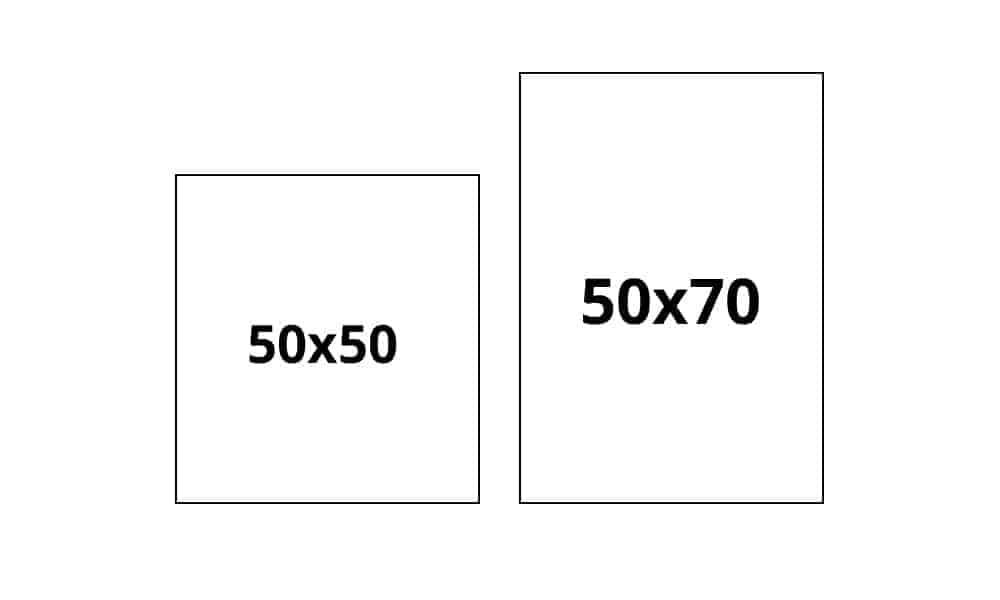 50x50 og 50x70 cm plakatstørrelse