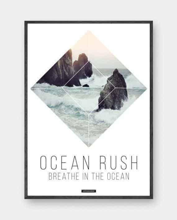 ocean-rush-minimalistisk-plakat-produktbillede-570x708px
