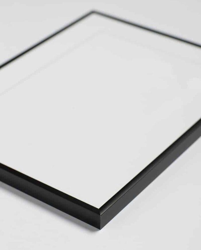 Sort aluminium ramme