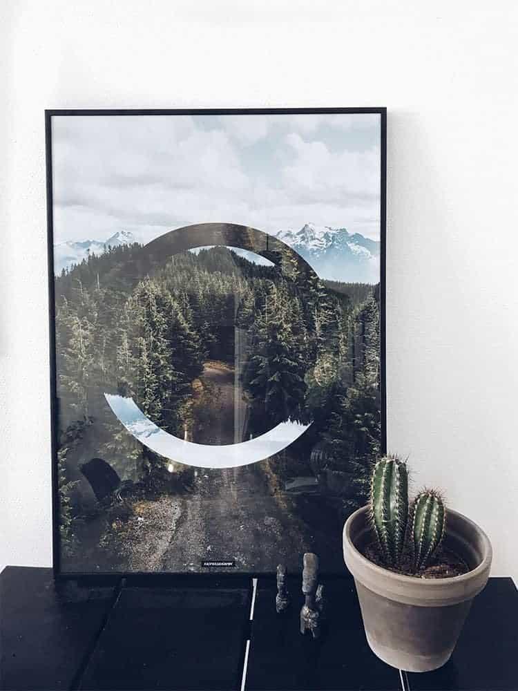 Grafisk natur fotokunst plakat