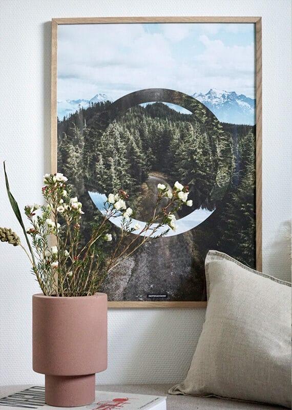 The Forest II plakat i lys egetræ ramme