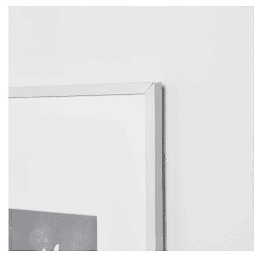 IKEA ramme Lomviken i sølvmalet aluminium ramme