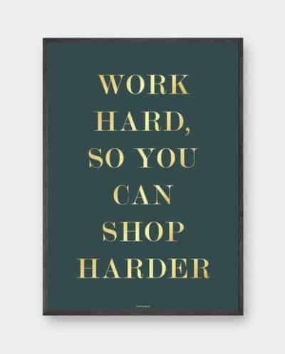 shop-harder-guld-tekst-plakat