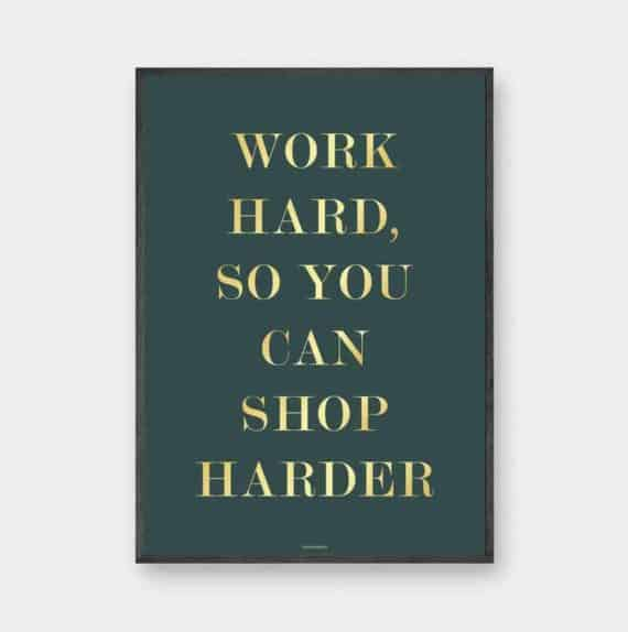 shop-harder-guld-tekst-plakat