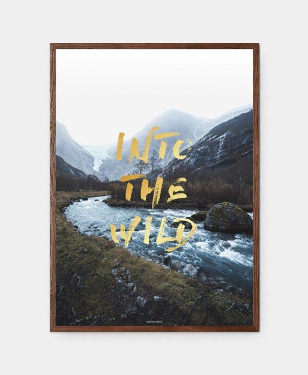 Into The Wild plakat i mørkebrun ramme