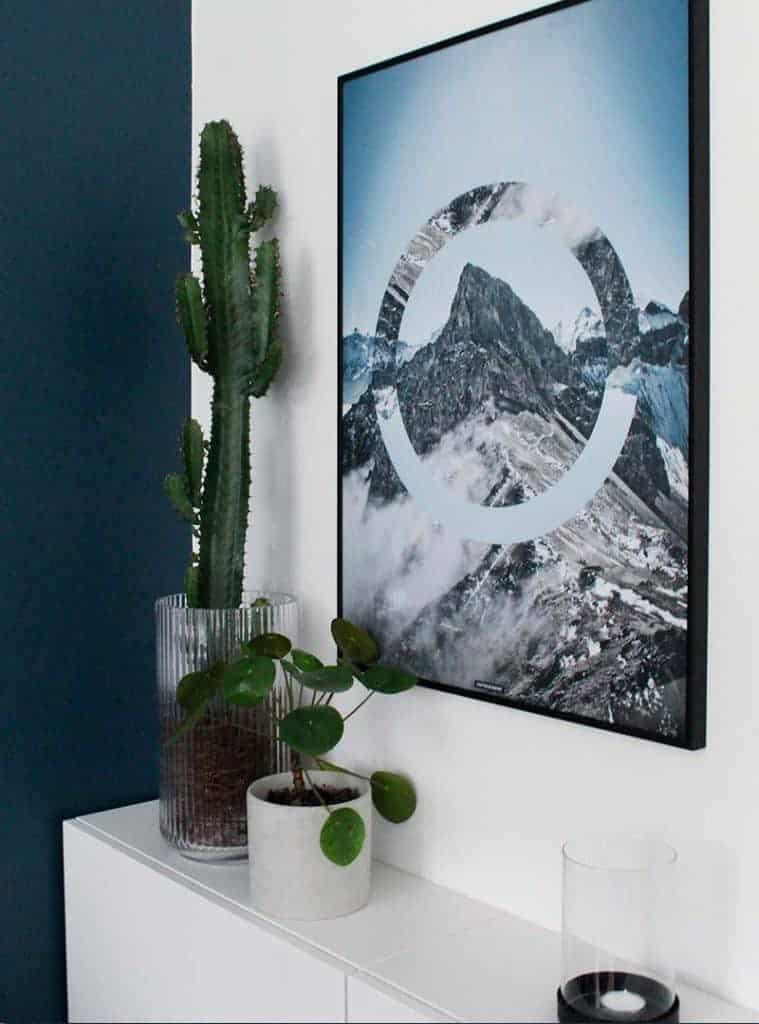 Snebjerge og natur billede - Sky High plakat