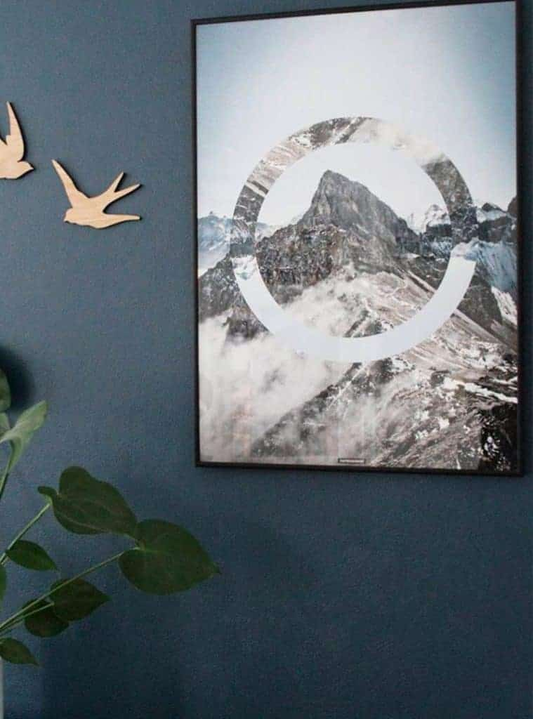 Natur billede med klipper og bjerge - Sky High plakat