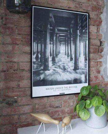 Sort hvid fotokunst billede med havnekaj - Libertatem plakat