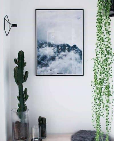 Natur tekst plakat - Happiness plakat