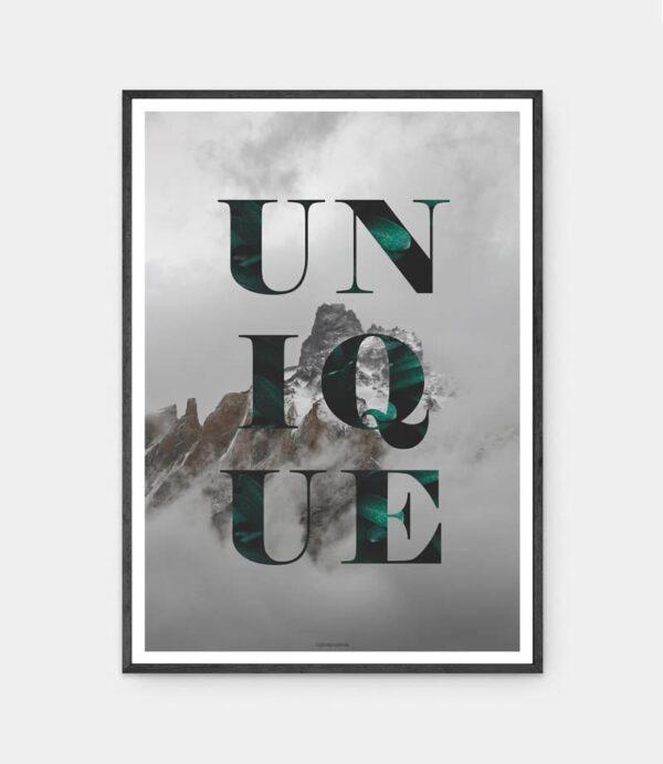Unique plakat med sort ramme