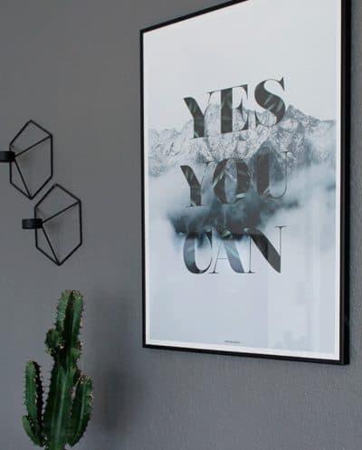 Yes you can plakat - Natur og tekst