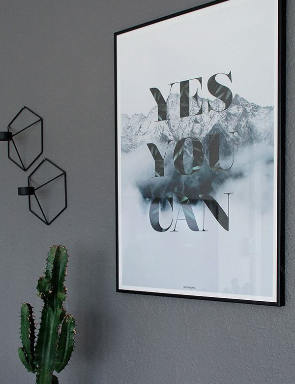 Yes you can plakat - Natur og tekst