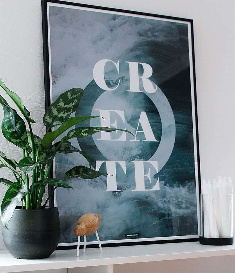 Create plakat - motiverende tekst citat plakat