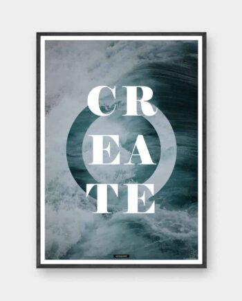 Create - natur plakat