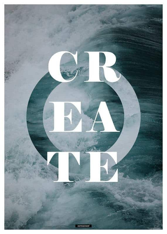 create-natur-tekst-plakat