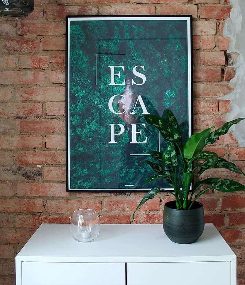 Escape plakat - Natur og tekst plakat