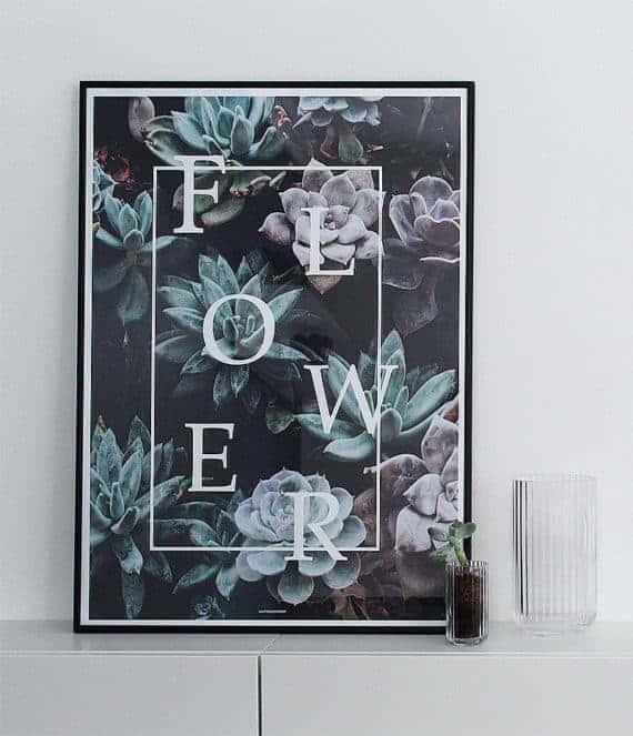 flower-botanisk-plante-plakat-miljobillede