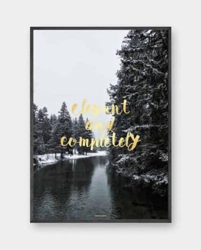 Completely plakat - Natur og tekst plakat