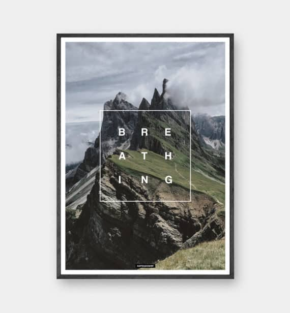 Breathing plakat - Natur og tekst