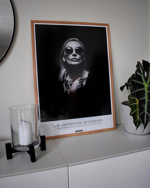 Fashion plakat - sort hvid plakat