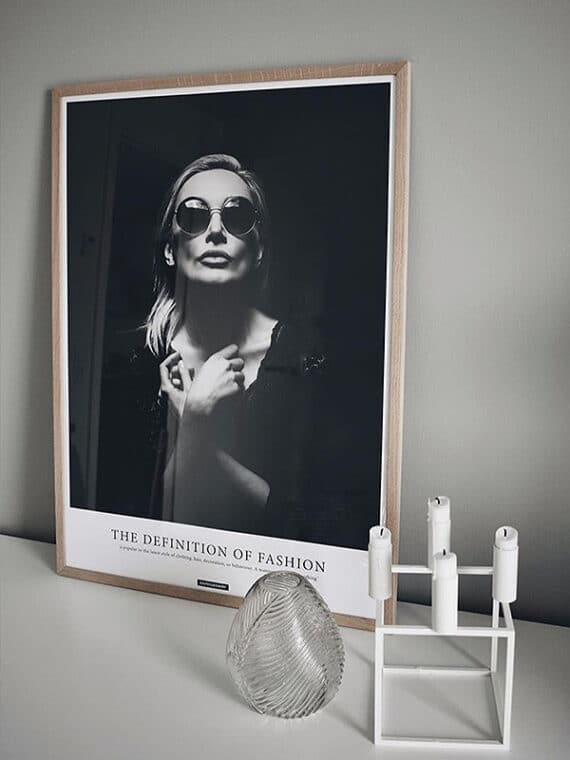 Fashion sort hvid plakat