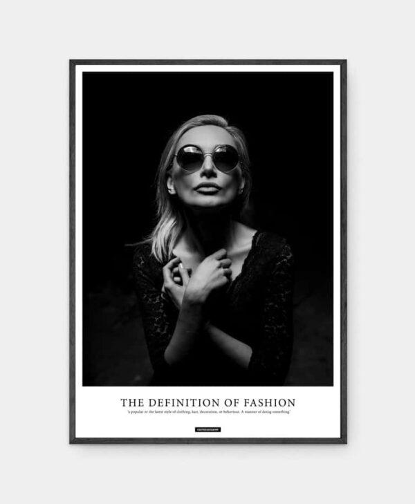 Fashion plakat i sort ramme