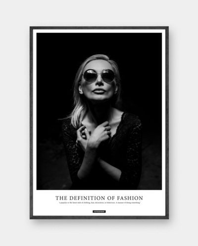 Fashion plakat - Sort hvid portræt