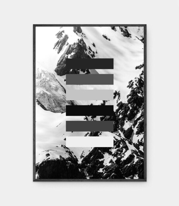 Grey Shades plakat i ramme