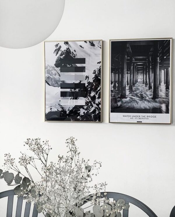 Grey shades plakat - sort hvid natur