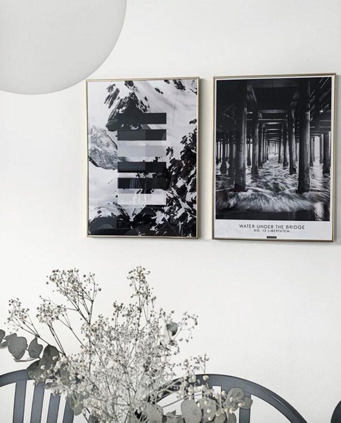 Grey shades plakat - sort hvid natur