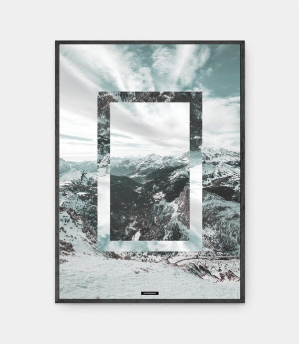 Snow Mountain plakat i ramme