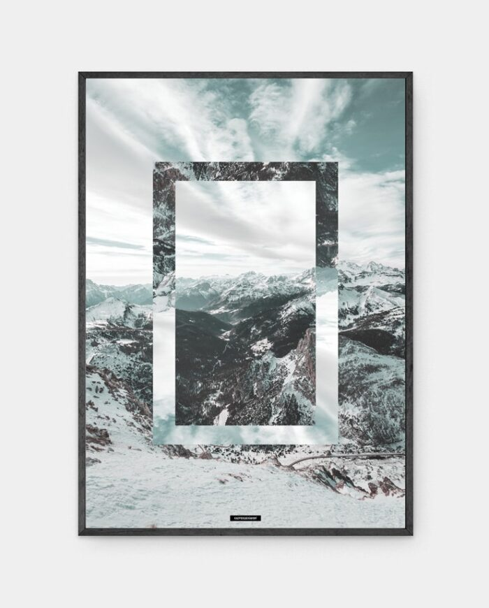 Snow Mountain plakat i ramme