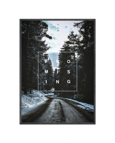 Promising plakat - Natur og tekst plakat