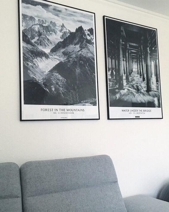 Perfect pair plakatsæt - libertatem og forest in the mountains