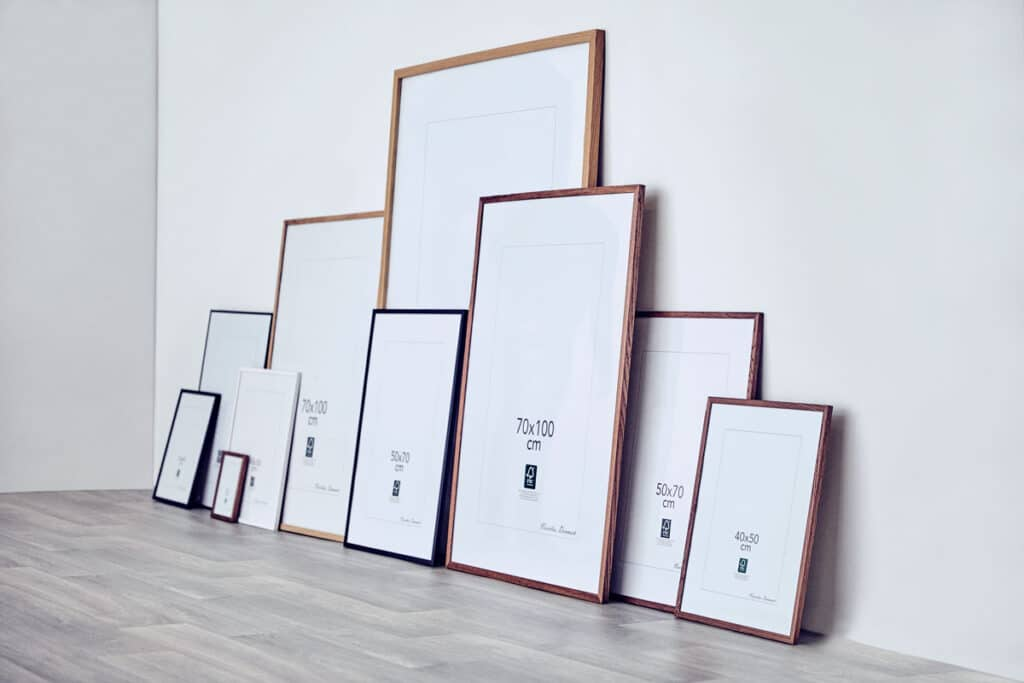 Rammer til plakater i forskellige størrelser