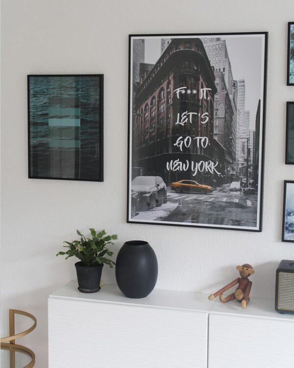 Go To New York plakat - By og tekst plakat